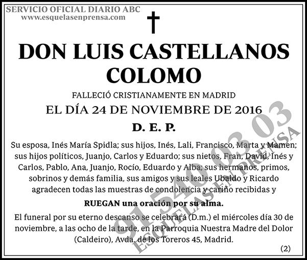 Luis Castellano Colomo